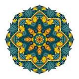 Wektorowy Piękny Deco Barwiony mandala Obrazy Royalty Free