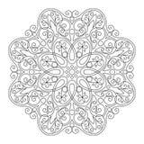 Wektorowy Piękny Deco czerni mandala Obrazy Royalty Free