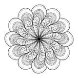 Wektorowy Piękny Deco czerni mandala Fotografia Royalty Free