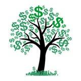 Wektorowy pieniądze drzewo z dolarami royalty ilustracja