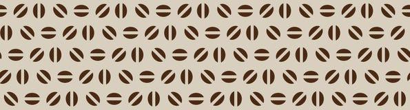 Wektorowy pierwotny bezszwowy kawa wzór na beżowym tle ilustracji
