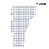 Wektorowy piksel mapy stan Vermont odizolowywał na białym tle Fotografia Royalty Free
