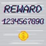 Wektorowy piksel nagrody zwrot Zdjęcia Stock