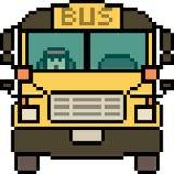 Wektorowy piksel sztuki autobusu przód royalty ilustracja