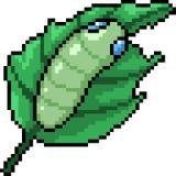 Wektorowy piksel sztuki dżdżownicy liść Fotografia Stock