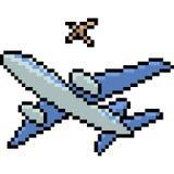 Wektorowy piksel sztuki samolot Zdjęcia Stock