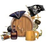 Wektorowy pirata baru pojęcie ilustracja wektor