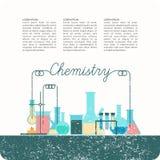 Wektorowy plakat dla chemii ilustracji