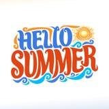Wektorowy plakat dla lato sezonu Zdjęcie Royalty Free