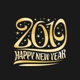 Wektorowy plakat dla 2019 nowy rok Zdjęcie Stock