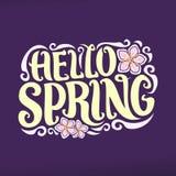 Wektorowy plakat dla wiosna sezonu Zdjęcie Stock