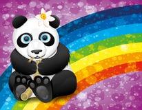 Wektorowy plakat Panda Zdjęcie Stock