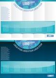 Wektorowy plakatowy projekt, szablon w dwa zmiennach Obrazy Stock