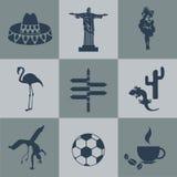 Wektorowy południowy America set ilustracji