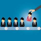 Wektorowy pojęcie gmeranie dla fachowego materiału, kierowniczej myśliwy pracy, zatrudnienia zagadnienia, działu zasobów ludzkich Obraz Stock