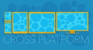 Wektorowy pojęcie przecinająca platforma ilustracji