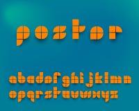 Wektorowy Pomarańczowy Graficzny abecadło set ilustracji