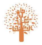 Wektorowy pomarańczowy drzewo ilustracja wektor