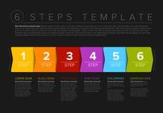 Wektorowy postępu sześć kroków szablon Obraz Stock