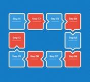 Wektorowy postępu tło Szablon dla diagrama, wykresu, prezentaci i mapy, Biznesowy pojęcie z 10 opcjami, części, kroki zdjęcia royalty free