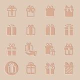 Wektorowy prezent ikony set ilustracja wektor