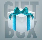 Wektorowy prezenta pudełko z tasiemkowym łękiem Zdjęcie Stock