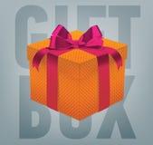 Wektorowy prezenta pudełko z tasiemkowym łękiem Obraz Royalty Free