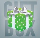 Wektorowy prezenta pudełko z tasiemkowym łękiem Zdjęcie Royalty Free