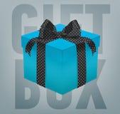 Wektorowy prezenta pudełko z tasiemkowym łękiem Fotografia Royalty Free