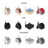 Wektorowy projekt świątynny i historyczny symbol Set ?wi?tynia i wiary akcyjna wektorowa ilustracja ilustracja wektor