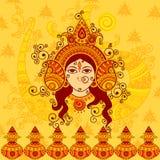 Wektorowy projekt bogini Durga Zdjęcia Stock