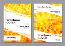 Wektorowy projekt dla broszurki pokrywy ilustracji