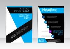 Wektorowy projekt dla pokrywa raportu broszurki ulotki plakata w A4 rozmiarze Obrazy Stock