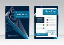 Wektorowy projekt dla pokrywa raportu broszurki ulotki plakata w A4 rozmiarze Zdjęcie Stock