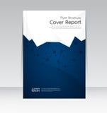 Wektorowy projekt dla pokrywa raportu broszurki ulotki Rocznego plakata w A4 rozmiarze Obraz Royalty Free