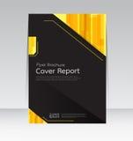Wektorowy projekt dla pokrywa raportu broszurki ulotki Rocznego plakata w A4 rozmiarze Zdjęcia Royalty Free