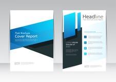 Wektorowy projekt dla pokrywa raportu broszurki ulotki w A4 rozmiarze Fotografia Royalty Free