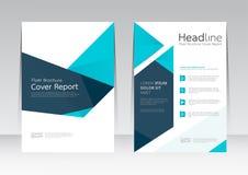 Wektorowy projekt dla pokrywa raportu broszurki ulotki w A4 rozmiarze Obrazy Royalty Free