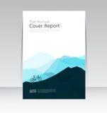Wektorowy projekt dla pokrywa raportu ulotki Rocznego plakata w A4 rozmiarze Fotografia Royalty Free
