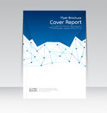 Wektorowy projekt dla pokrywa raportu ulotki Rocznego plakata w A4 rozmiarze Obrazy Royalty Free