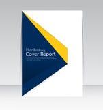 Wektorowy projekt dla pokrywa raportu ulotki Rocznego plakata w A4 rozmiarze Zdjęcie Royalty Free