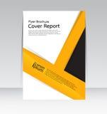 Wektorowy projekt dla pokrywa raportu ulotki Rocznego plakata w A4 rozmiarze Zdjęcia Royalty Free