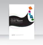 Wektorowy projekt dla pokrywa raportu ulotki Rocznego plakata w A4 rozmiarze Obrazy Stock