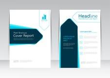 Wektorowy projekt dla pokrywa raportu ulotki Rocznego plakata w A4 rozmiarze Zdjęcia Stock