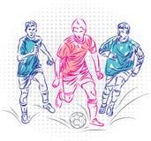 Wektorowy projekt gracze piłki nożnej royalty ilustracja