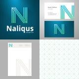 Wektorowy projekt ikony N element z wizytówki i papieru szablonem Obrazy Royalty Free