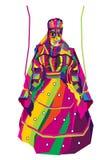 Wektorowy projekt kolorowa Rajasthani kukła ilustracji
