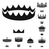 Wektorowy projekt kr?lewi?tko i majestatyczny znak Set kr?lewi?tko i z?ocistego zapasu wektoru ilustracja ilustracji