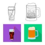 Wektorowy projekt napoju i baru logo Set napój i partyjny akcyjny symbol dla sieci royalty ilustracja