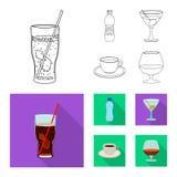 Wektorowy projekt napoju i baru znak Set napój i partyjny akcyjny symbol dla sieci ilustracja wektor